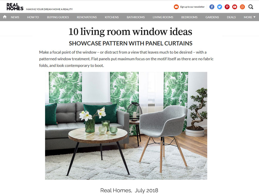 Real Homes window coverings bloh